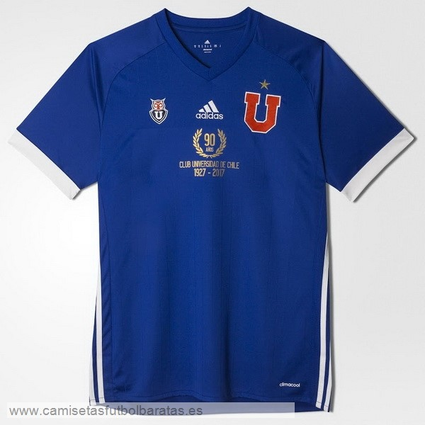 Comprar Equipaciones Casa 90th Camiseta Universidad De Chile 1927 2017 Azul